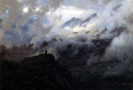 Nikolai (Nikolaj) Alexandrowitsch Jaroschenko - Der Elbrus in Wolken