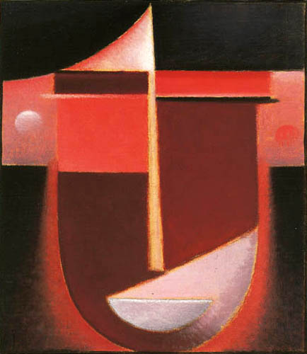 Alexej Georgewitsch Javlenski - Abstrakter Kopf: Rotes Licht