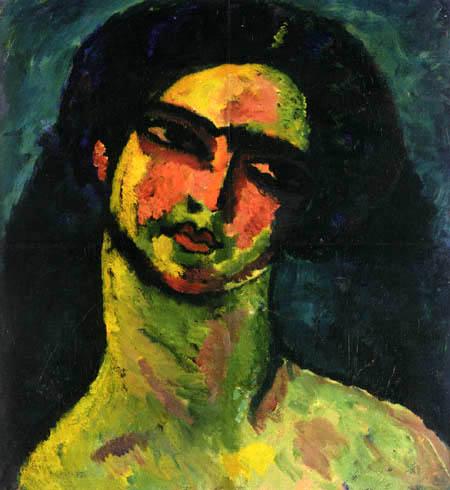 Alexej Georgewitsch Javlenski - Kopf einer Italienerin mit schwarzem Haar