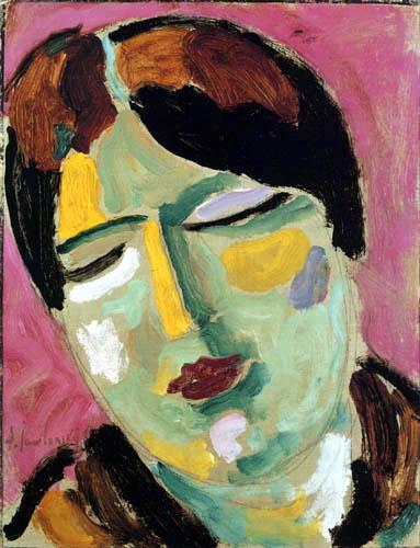 Alexej Georgewitsch Javlenski - Mystischer Kopf: Träumende
