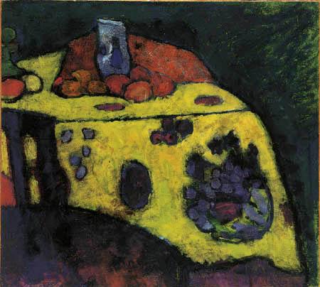 Alexej Georgewitsch Javlenski - Stilleben mit gelber Decke