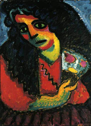 Alexej Georgewitsch Javlenski - Frau mit Fächer