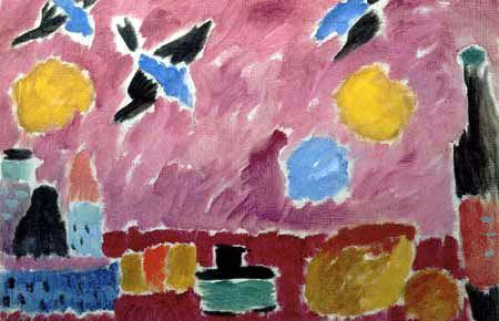 Alexej Georgewitsch Javlenski - Mit roter Schwalbentapete
