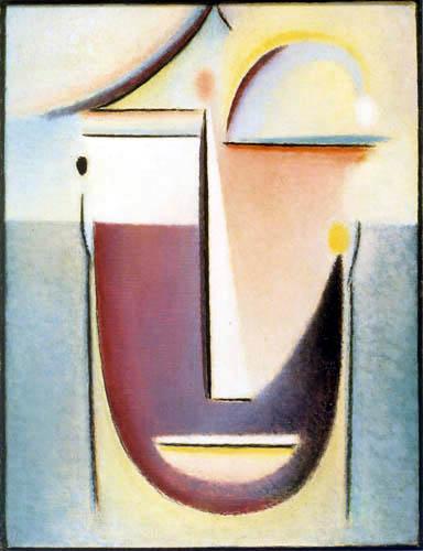 Alexej von Jawlensky - Abstrakter Kopf in Urform