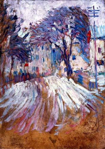 Alexej Georgewitsch Javlenski - Street in Winter