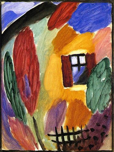Alexej Georgewitsch Javlenski - Variation with house and garden fence