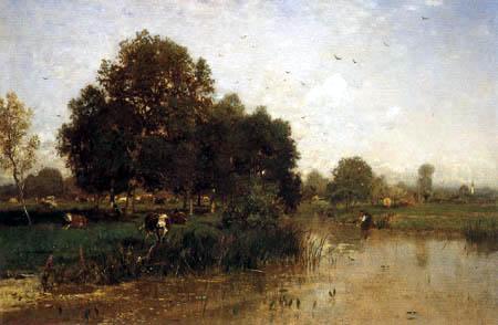 Eugen Jettel - River landscape