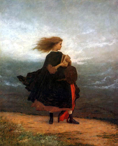 Jonathan Eastman Johnson - The girl, whom I left