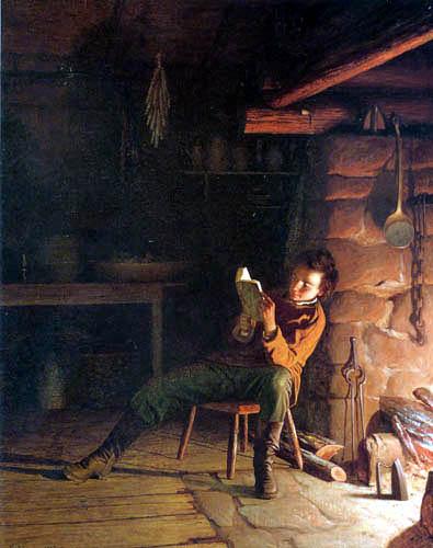 Jonathan Eastman Johnson - Die Kindheit Abraham Lincolns