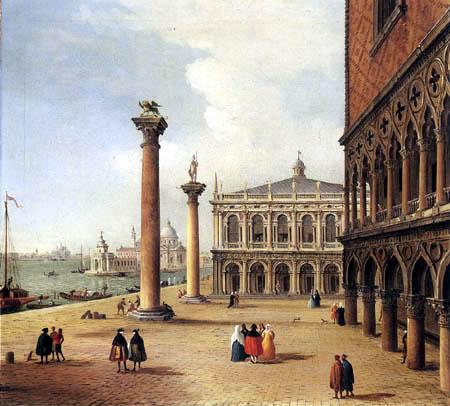 Antonio Joli - The Piazetta und Libreria di San Marco