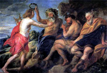 Jacob Jordaens - Apoll als Sieger über Pan