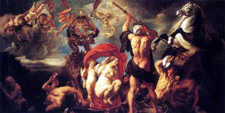 Jacob Jordaens - Neptun erschafft das Pferd
