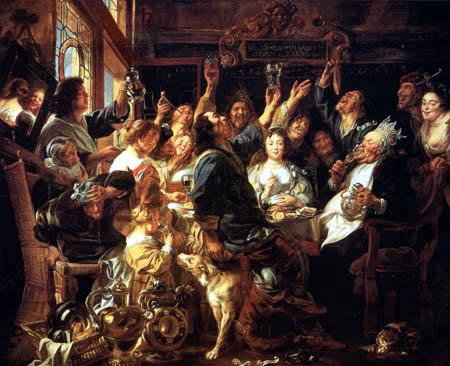 Jacob Jordaens - The king drinks