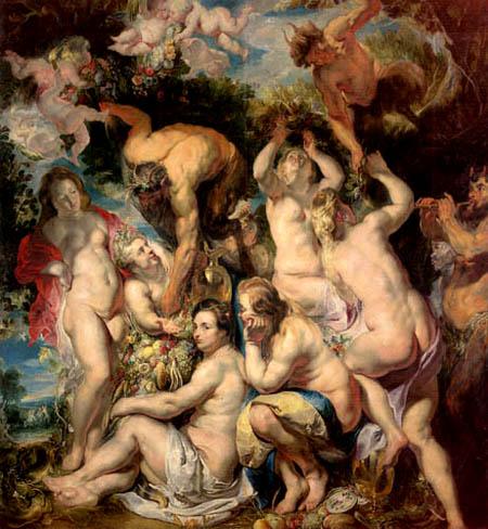 Jacob Jordaens - Nymphen und Faune