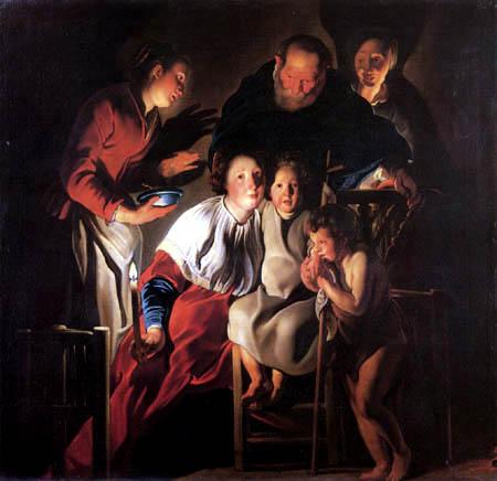 Jacob Jordaens - Die hl. Familie