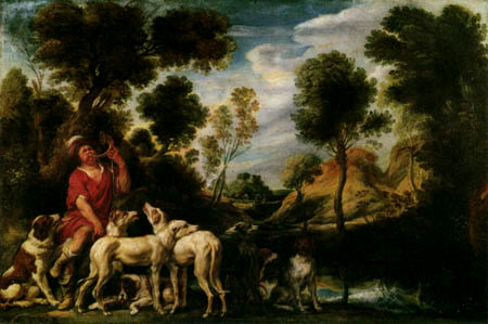 Jacob Jordaens - Hunter with dogs