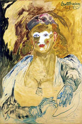 Ernst Josephson - Dame in der Theaterloge