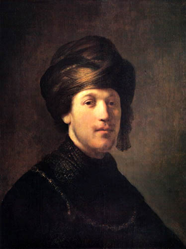 Isaac (Isack) Jouderville - Portrait of a young man with turban