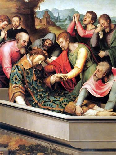 Vicente Juan Macip (Juan de) Juanes - The funeral of the San Esteban