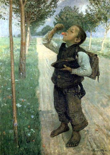 Graf Leopold von Kalckreuth - On the way to school