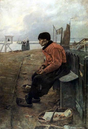 Graf Leopold von Kalckreuth - A old fisher