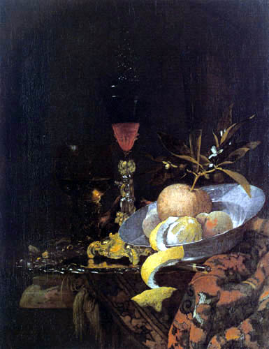 Willem Kalf - Fruits and glasses