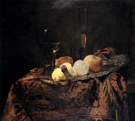 Willem Kalf - Stillleben mit Zitrone