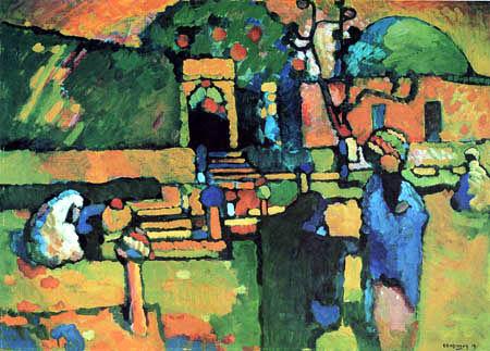 Wassily Kandinsky - Ein arabischer Friedhof