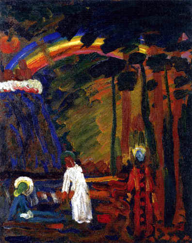 Wassily Kandinsky - Ariel, Szene aus Faust II