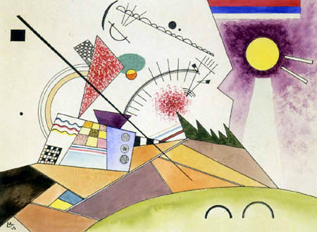 Wassily Wassilyevich Kandinsky - Moving Rest, Sketch