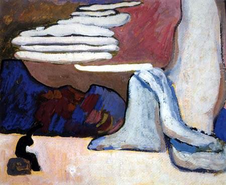Vassily Kandinsky - Composition Scénique Noir et Blanc, scène I, Blanc