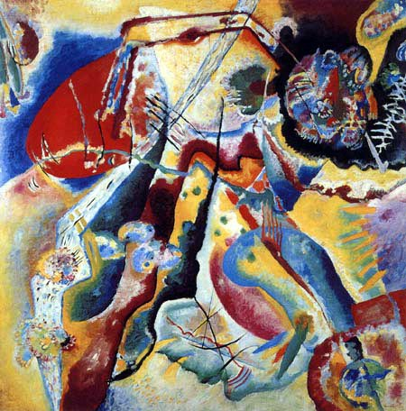 Wassily Kandinsky - Bild mit rotem Fleck