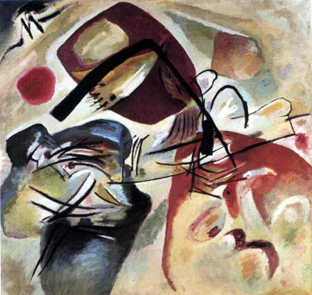 Wassily Wassilyevich Kandinsky - Painting with black bow