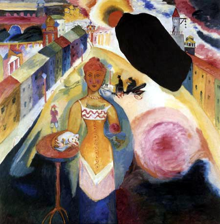 Vasili Kandinski - Señora en Moscú