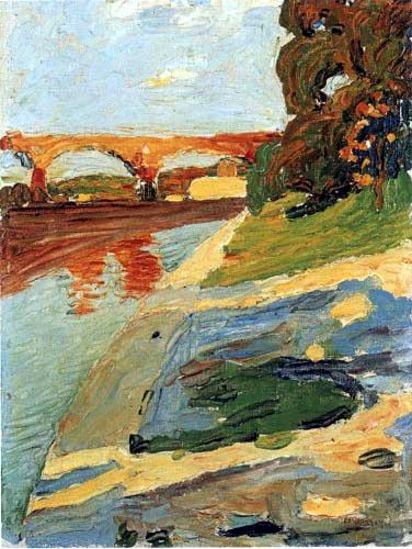 Wassily Kandinsky - Die Isar bei Grosshesselohe