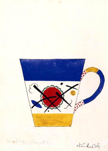 Wassily Kandinsky - Entwurf für eine Milchtasse