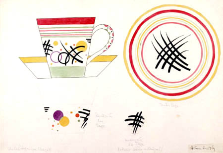 Wassily Wassilyevich Kandinsky - Design for a cup of milk
