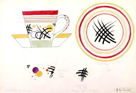 Vassily Kandinsky - Design pour une tasse de lait