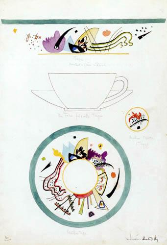 Vassily Kandinsky - Design pour une tasse et soucoupe