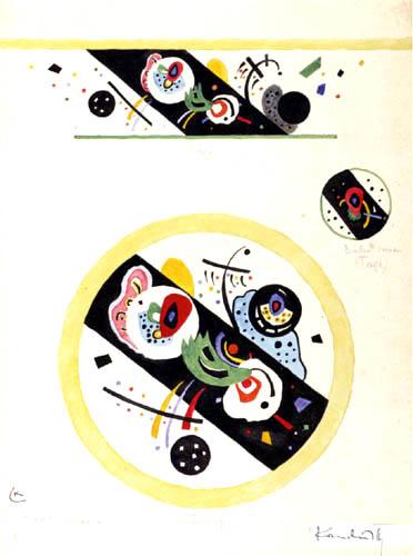 Wassily Kandinsky - Entwurf für eine Tasse und Untertasse