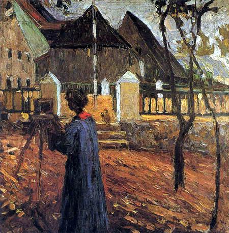 Wassily Kandinsky - Gabriele Münter beim Malen in Kallmünz