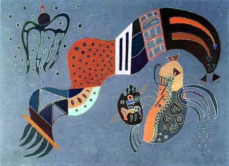 Wassily Kandinsky - Gedämpfter Elan