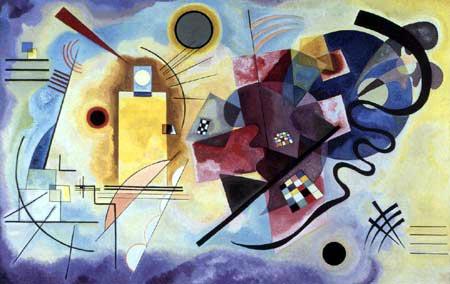 Vasili Kandinski - Amarillo - Rojo - Azul