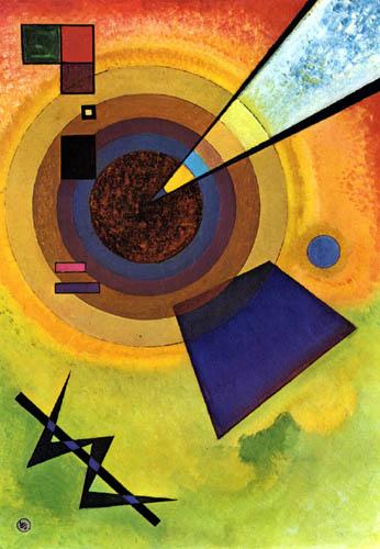 Wassily Kandinsky - Grün und Rot