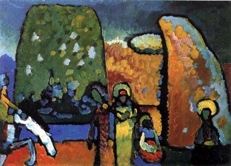 Wassily Wassilyevich Kandinsky - Improvisation II, Funeral March