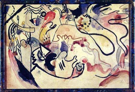 Wassily Kandinsky - Jüngstes Gericht, Studie