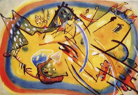 Wassily Kandinsky - Komposition, Landschaft