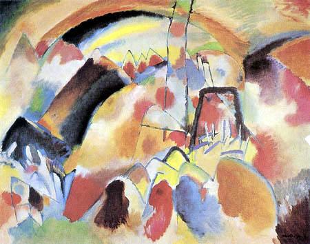Vasili Kandinski - Paisaje con Iglesia