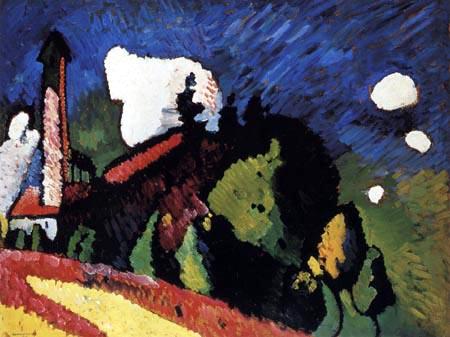 Wassily Kandinsky - Landschaft mit Turm