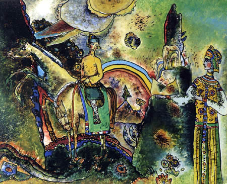 Wassily Kandinsky - Mit grünem Reiter